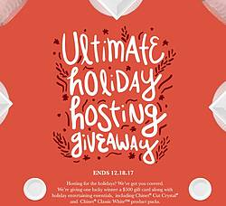 Chinet Ultimate Holiday Hosting Giveaway